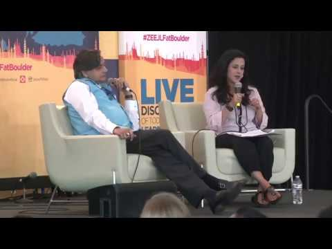 """#ZEEJLFatBoulder """"The Colonial Enterprise"""" - Dr. Tharoor with Anita Anand"""