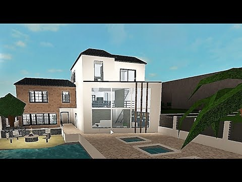Building A Tropical House Roblox Bloxburg 183k YouTube