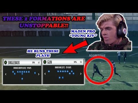 WHY MADDEN PROS ARE USING THESE UNSTOPPABLE FORMATIONS!! Best Offensive Playbook in Madden!