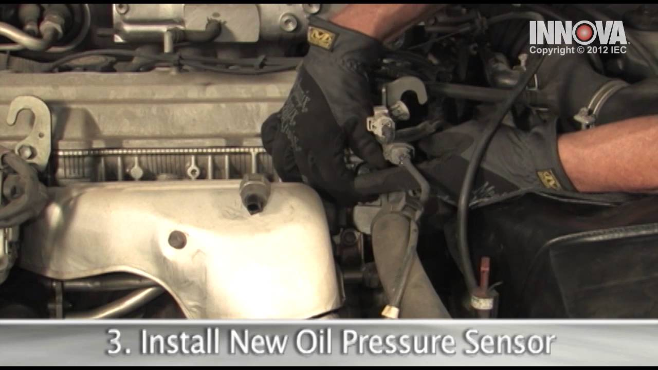 How to change Oil Pressure Sensor  1997 Toyota Camry