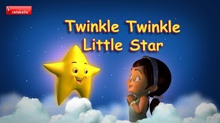 Twinkle Twinkle Little Star - Rhymes with lyrics, Baby Song, Lullaby