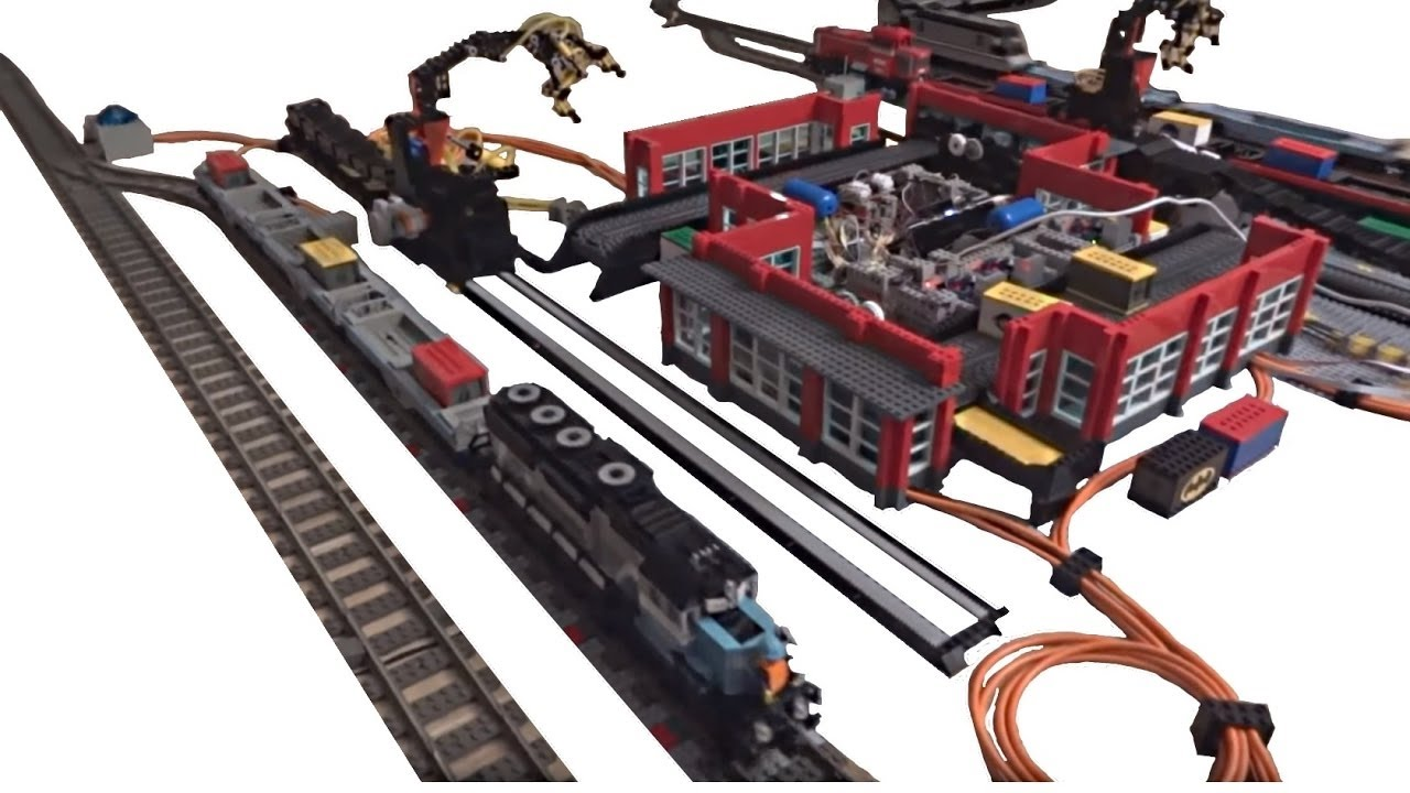 Lego city train container terminal fully automated by