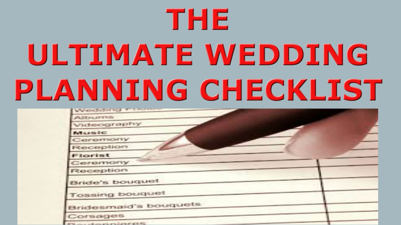 The Ultimate Wedding Planning Checklist All You Need For Perfect