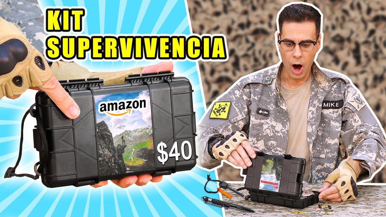 PRUEBO EL KIT DE SUPERVIVENCIA RECOMENDADO POR AMAZON | Curiosidades con Mike