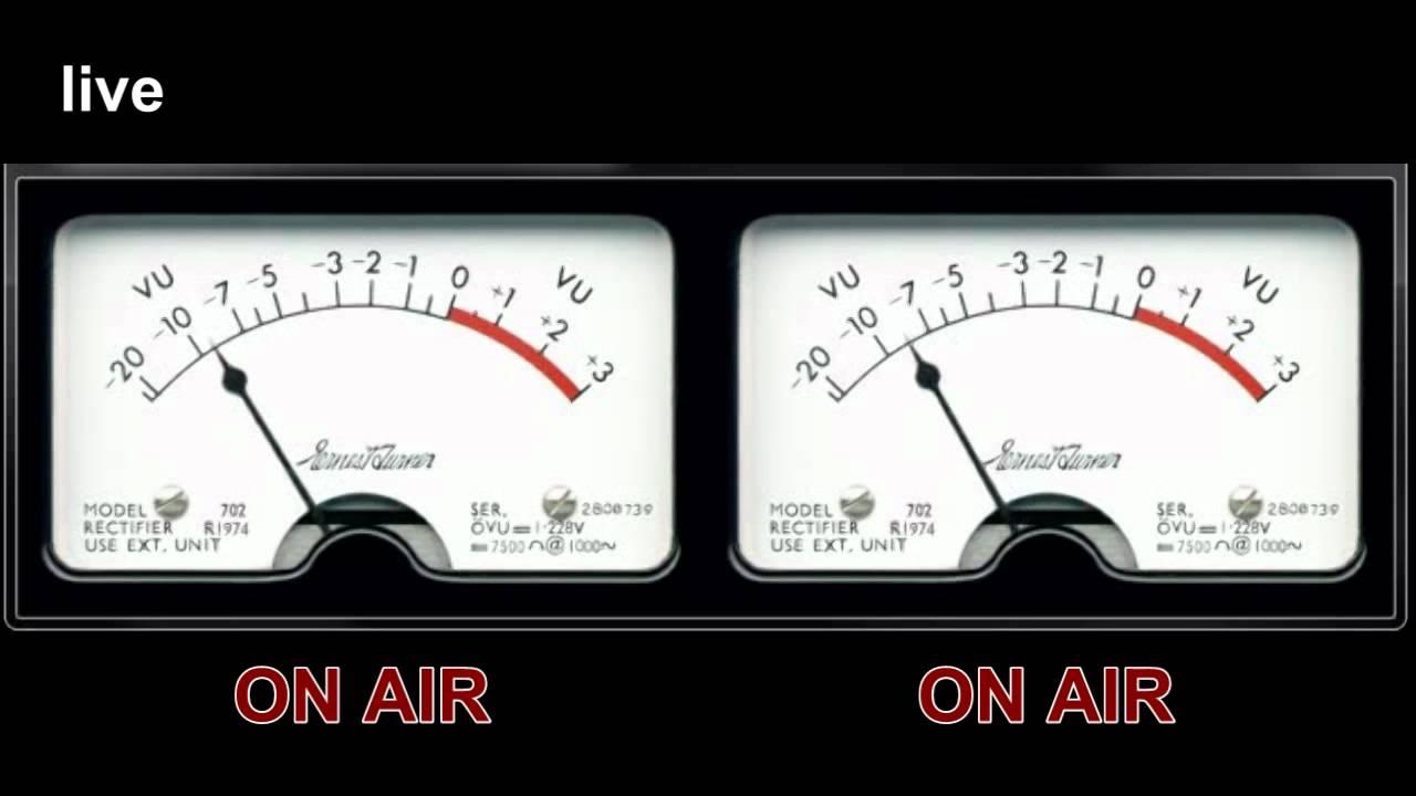 Analog Vu Meter : Webtv joinville analog vu meter live on air hd mp