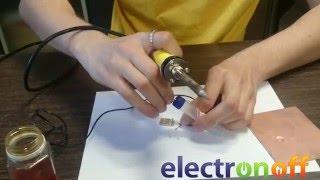 Как починить USB-штекер. Видео урок от Electronoff.(В этом видео, мы с Вами, научимся заменять оторванные USB штекера. Кроме того, по аналогии, Вы сможете заменит..., 2016-02-09T11:11:48.000Z)