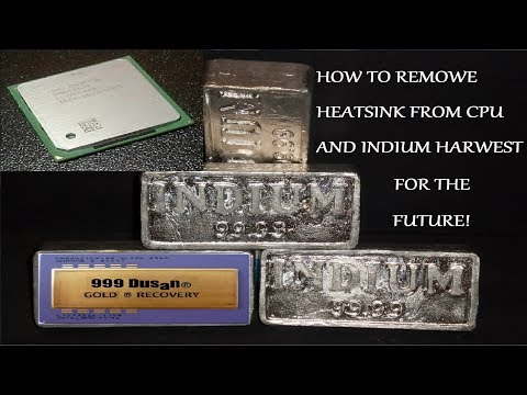 EASILY REMOVE HEATSINK FROM CPU & INDIUM HARWEST FOR FUTURE!