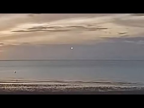Fast Moving UFO Caught on Live Webcam over Saint Ives Bay in Cornwall, England (UK)