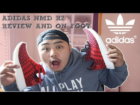 """Adidas NMD R2 PK """"BRED"""" + ON FOOT!!!!!"""