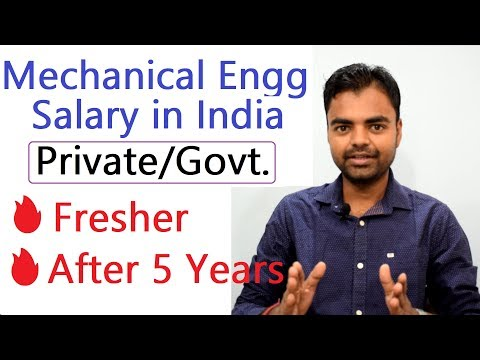Mechanical Engineer Salary Per Month In India In Private Govt Job For Fresher After 5 Years Hindi Youtube
