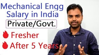 Mechanical Engineer Salary Per Month in India in Private, Govt Job for Fresher & After 5 Years Hindi