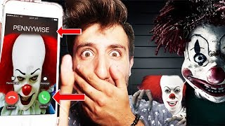 (PENNYWISE CAME TO MY HOUSE) DONT CALL PENNYWISE THE CLOWN ON FACETIME AT 3 AM | thumbnail
