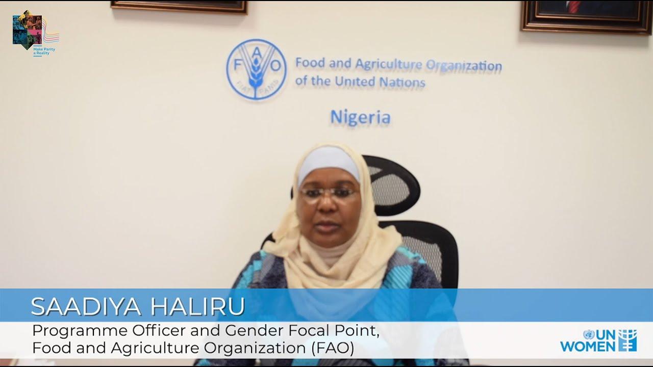 Making Parity a Reality in the UN | SaAdiya Haliru of FAO  - 21:56-2021 / 10 / 15