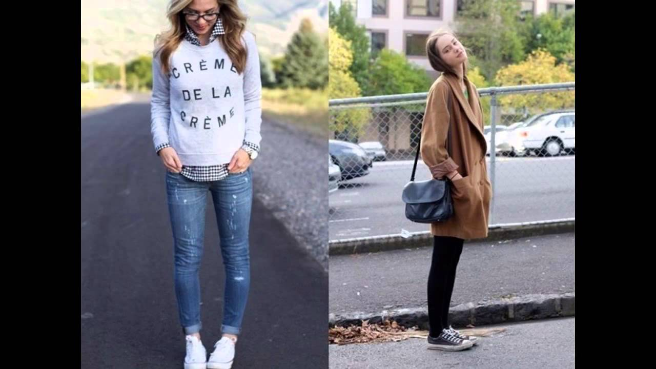Outfits con converse y jeans - YouTube
