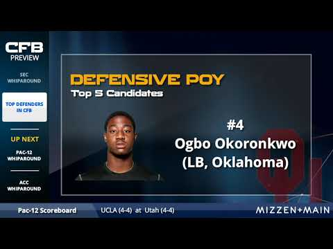 Ranking the Top 5 Defensive Players in College Football