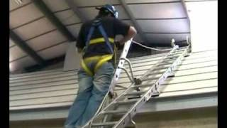 Ladder Roof Safety Training Using Vertical Lifeline System & Ladder Restraint System