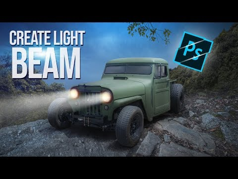 How to Create Car Light Beam   Photoshop cc 2019   Arunz Creation