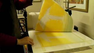 Rebecca Vincent printing monotypes: Part 2: The First Layer