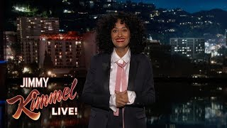 Tracee Ellis Ross' Guest Host Monologue on Jimmy Kimmel Live