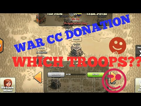 WAR CC TROOPS DONATION??🤔|CC TROOPS DONATION IN CLAN WAR