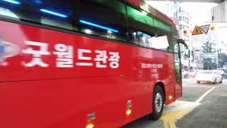 부산 대우관광버스 모습