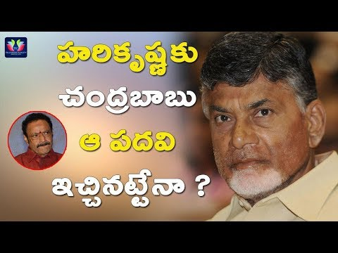 Chandrababu Naidu Will Give That Post To Nandamuri Harikrishna | AP Politics | TFC News