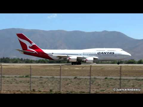 Qantas Boeing 747-400ER VH-OEH Take Off From Santiago De Chile To Sydney (QF28)
