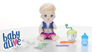 Hasbro Brasil - Vídeo 360° Baby Alive Alive Papinha Divertida Loiro - E0635