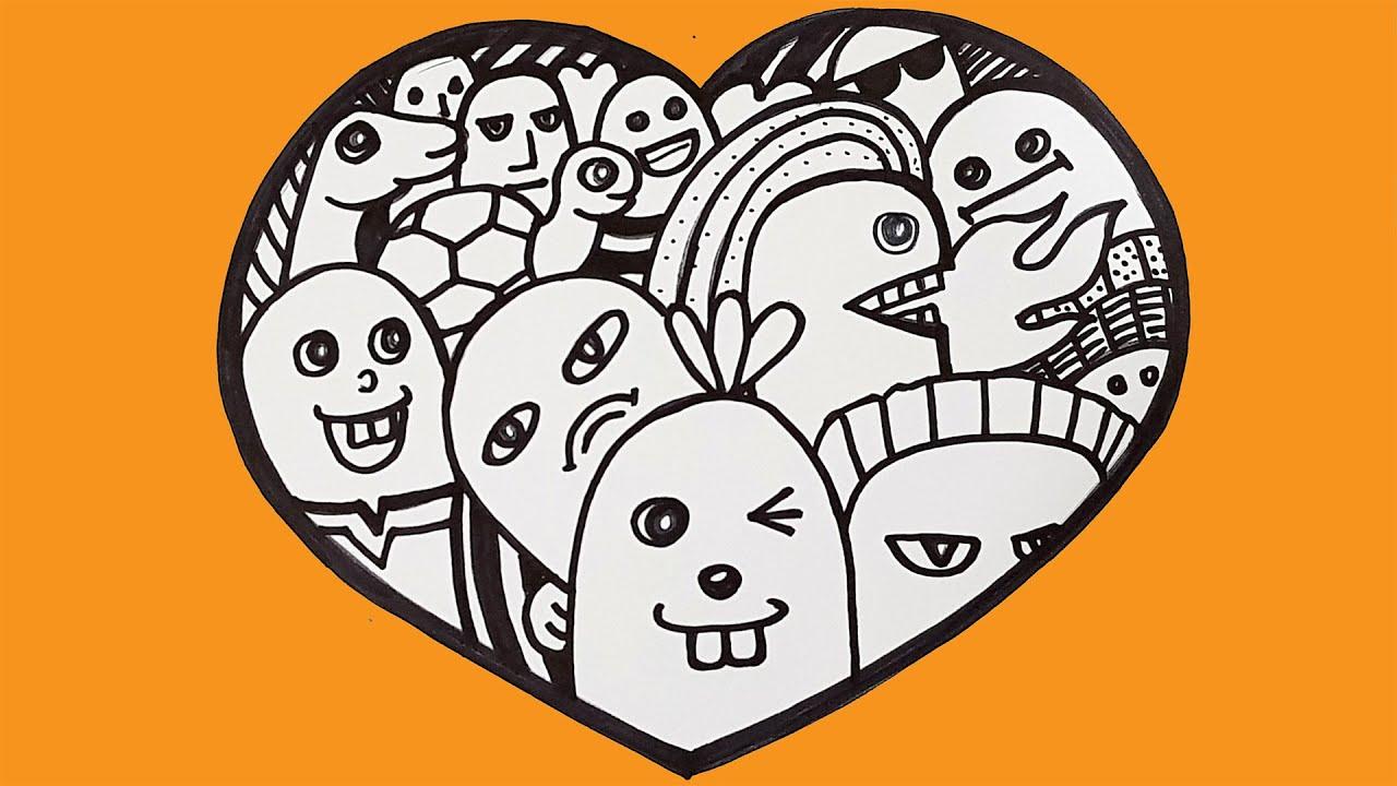 Dạy vẽ Trái tim vui vẻ ♥ How To Draw Funny Heart ♥