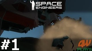 Space Engineers Let's Play: Shipwreck Survival - EP1: Crashdown