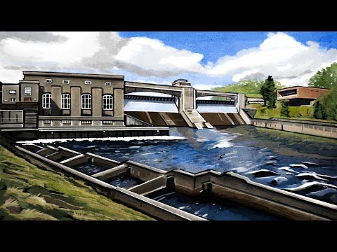 Illustrating Pitlochry - The Dam And Fish Ladder Walk - Scotland - DHShields