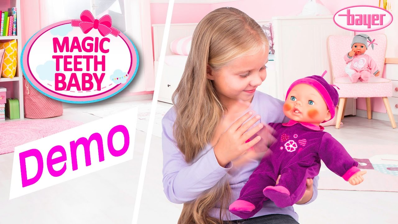 Magic Teeth Baby - Doll - Puppe - Demo - Bayer Design - YouTube