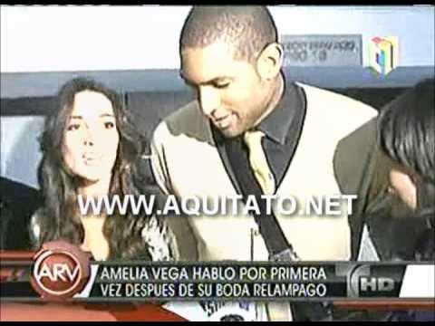 Amelia Vega hablo por primera vez despues de su boda