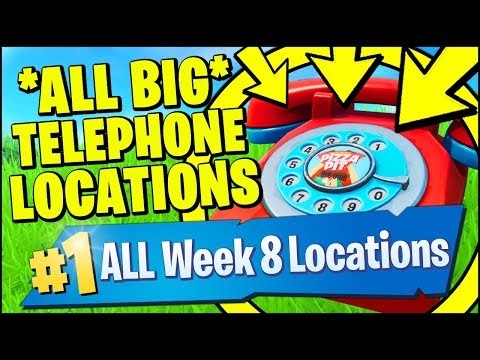 DIAL THE DURRR BURGER NUMBER ON THE BIG TELEPHONE & PIZZA PIT LOCATIONS (Fortnite Week 8)
