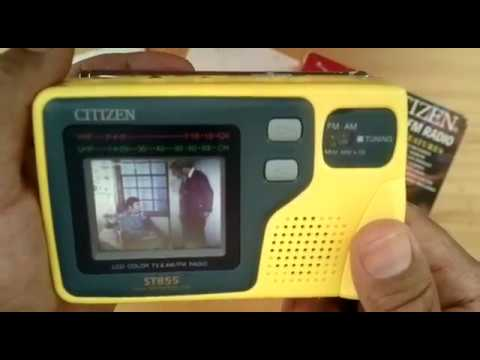 UNBOXING TV RADIO FM/AM CITIZEN ST855 REVIEW