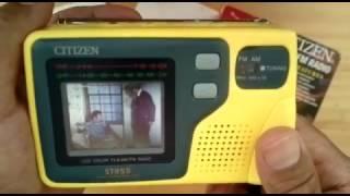 UNBOXING TV RADIO FM/AM CITIZEN ST855 REVIEW