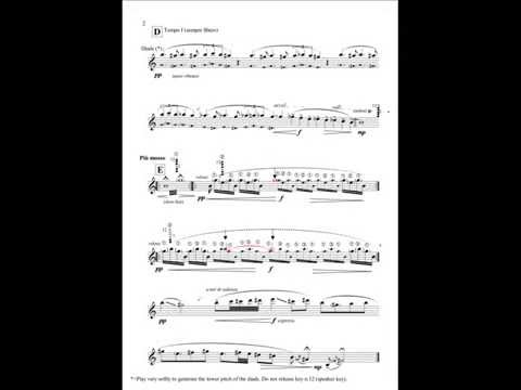 Fragment #6 for solo clarinet by Luca Luciano