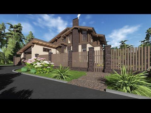 Проект дома в стиле современное шале