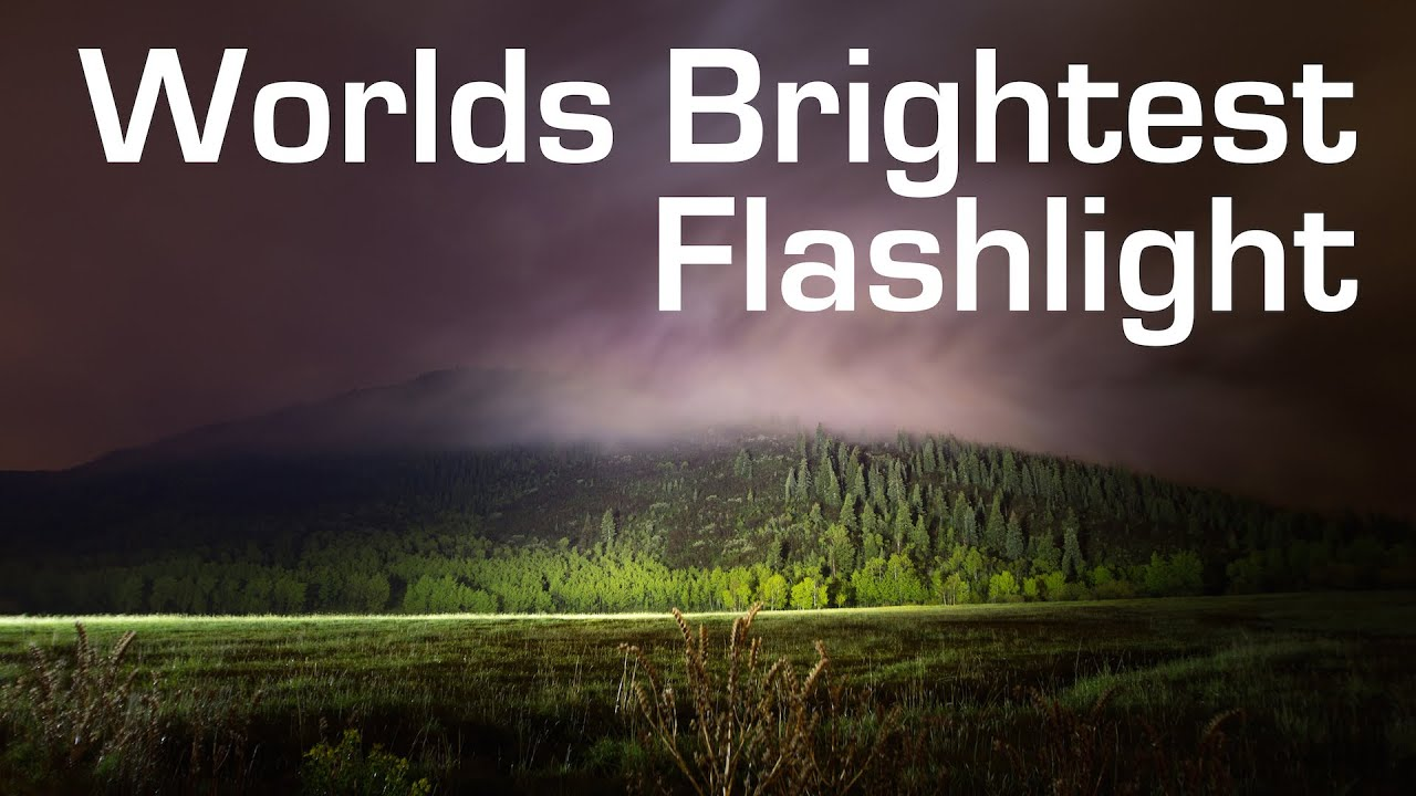 1000w Led Flashlight Worlds Brightest 90 000 Lumens Youtube