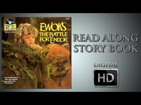 Ewoks The Battle for Endor  Read Along Story Book  Wilford Brimley  Warwick Davis  Aubree Miller