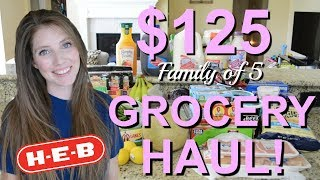 GROCERY HAUL 2019 | HEB GROCERY HAUL | FAMILY OF 5 BI WEEKLY GROCERY HAUL