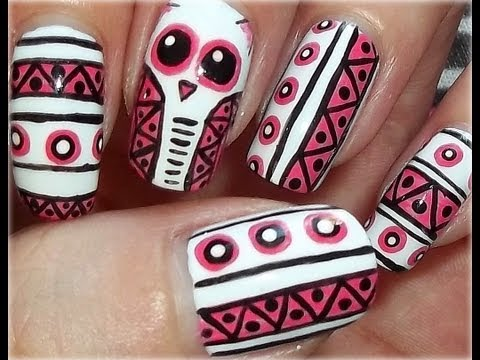 Tribal Owl Nails