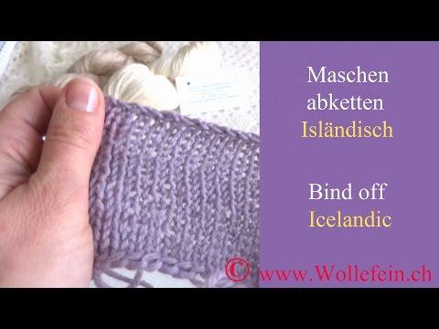 Maschen Abketten Isländisch - Bind Off Icelandic