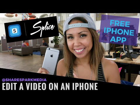 HOW TO EDIT VIDEOS ON IPHONE - Editing Basics with a Free