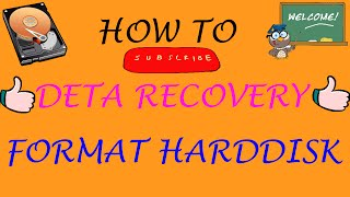 How To Data Recovery Of Your Computer Formatted Hard Disk / Fast and Free