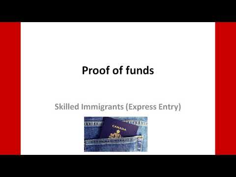 Offer Of Employment And Proof Of Funds