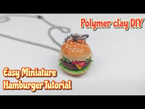 Miniature Hamburger Tutorial : Polymer Clay Tutorial : DIY Charms : Crafts by Andisa Charms