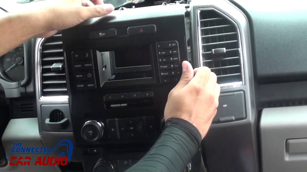 remove factory stereo ford f 150 2015 and up  YouTube