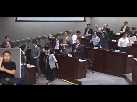 Opposition lawmakers walk out of LegCo president vote