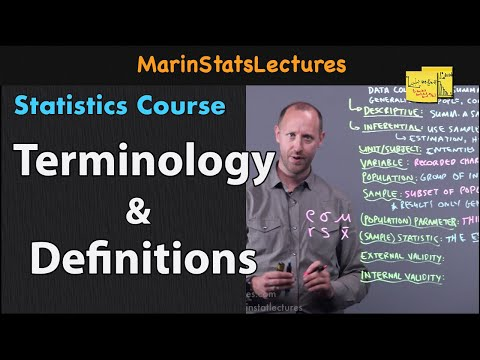 Statistics Terminology And Definitions| Statistics Tutorial | MarinStatsLectures